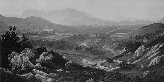 Prestranek, 1858, litografija